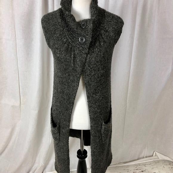 343276899f59e0 BCBGMaxAzria Sweaters   Bcbg Max Azria Two Button Sweater Duster ...